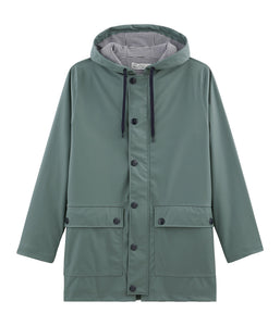 Sage Hooded Raincoat