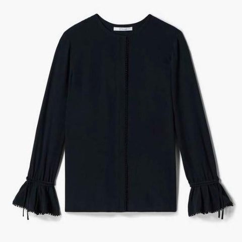 Laurel Bell Sleeve Blouse in Black