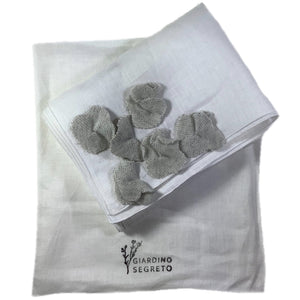 Flower Scarf in Carry Bag in White Veil