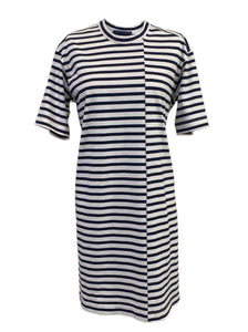 Striped Asymmetrical T-Shirt Dress