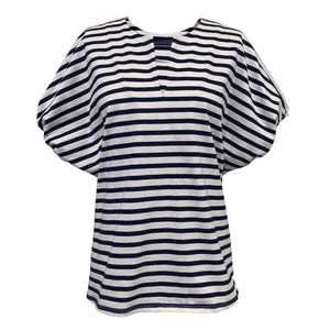 Oversize Puff Sleeve Top in Stripe