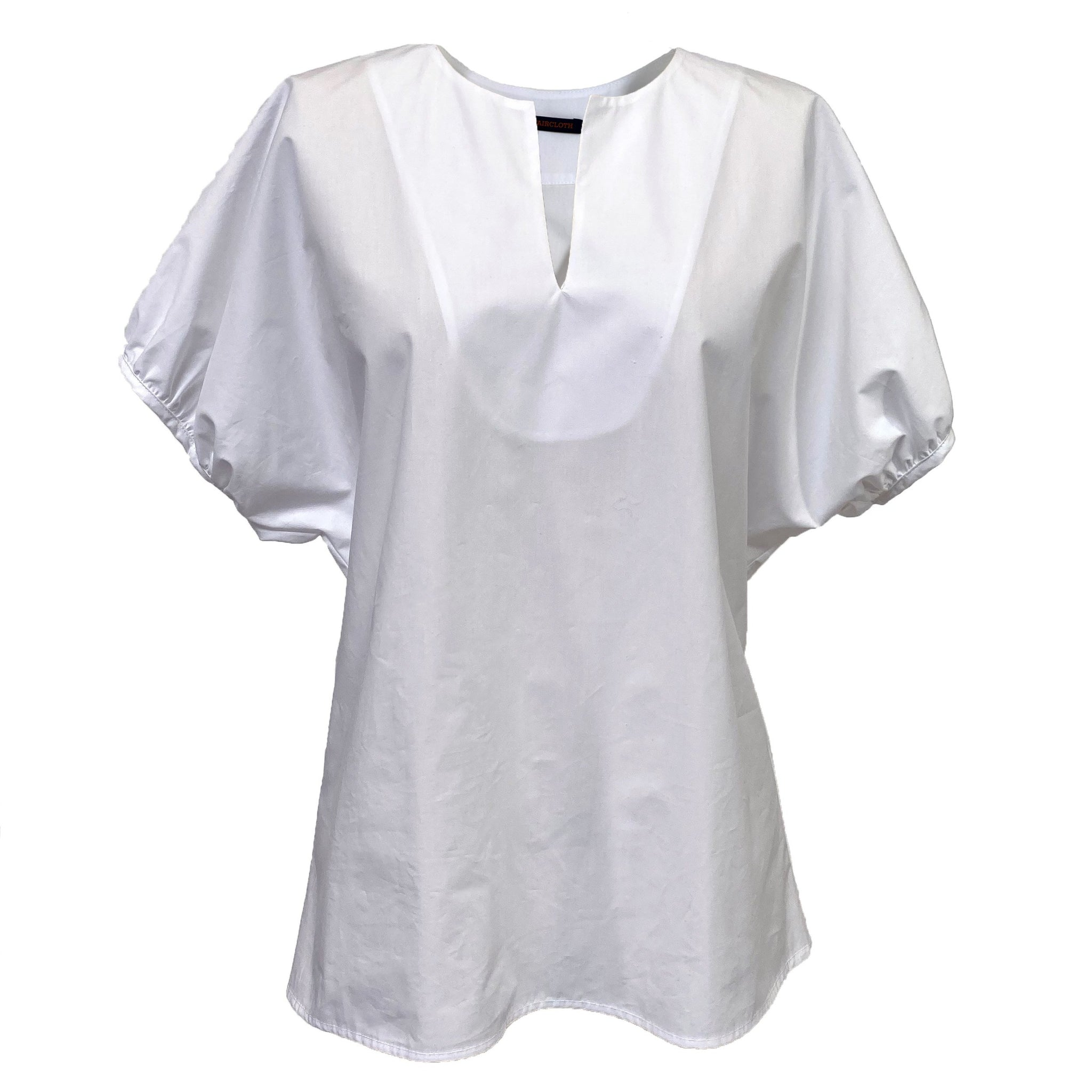 Oversize Puff Sleeve Top in White