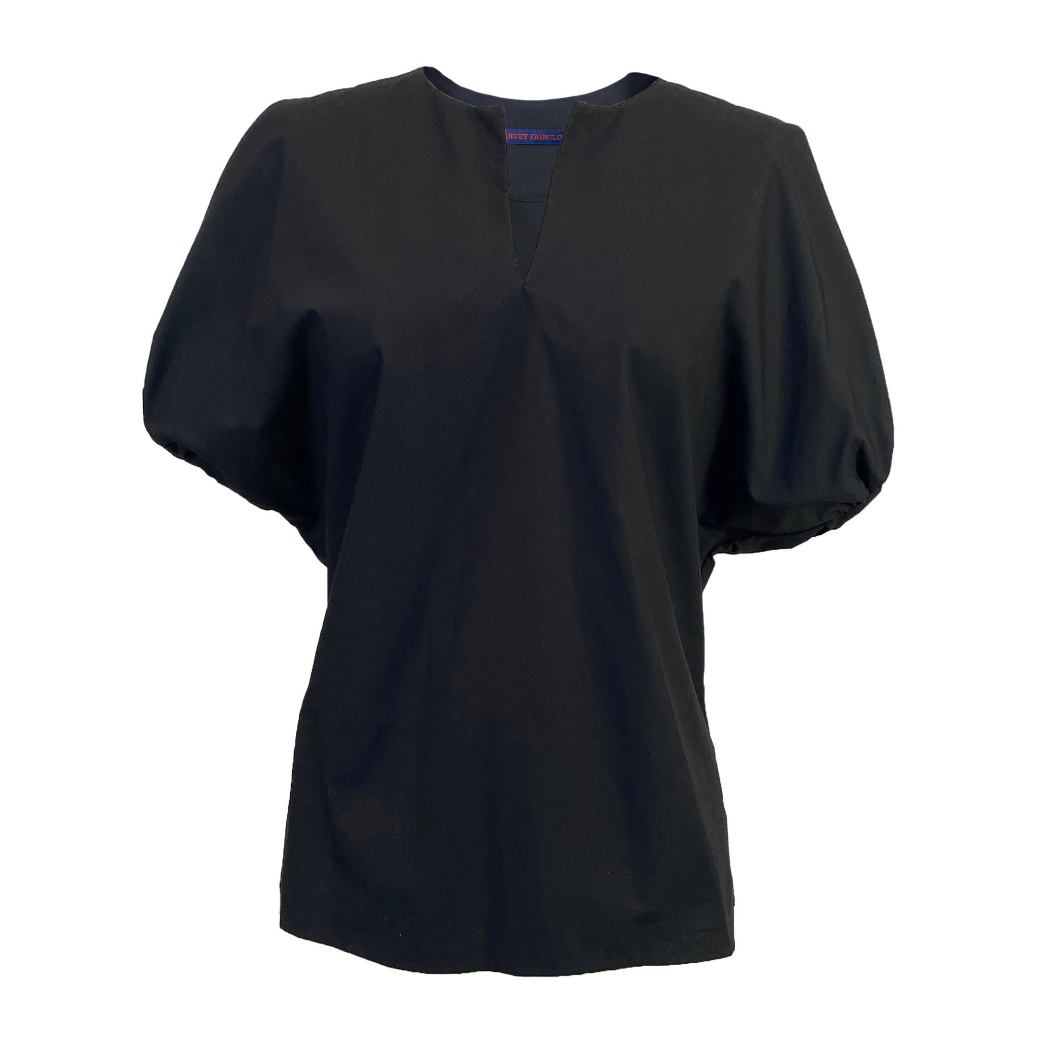 Oversize Puff Sleeve Top in Black