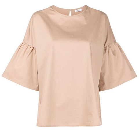 Top with Bell Sleeve in Desert Sand