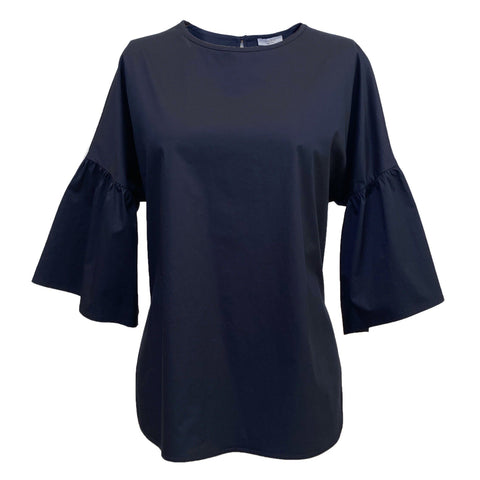 Top with Bell Sleeve in Navy