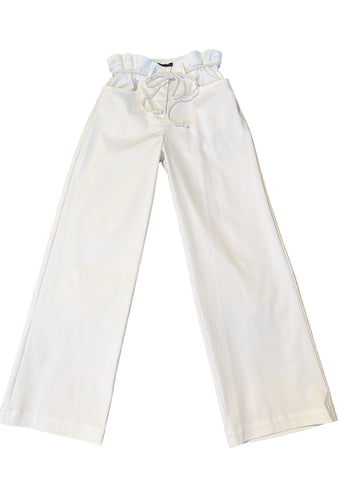 Gathered Trouser in White