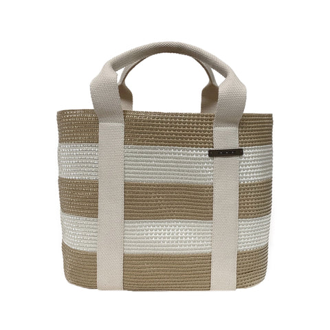 Straw Striped Tote Bag