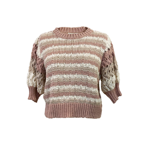 Arlow Woven Sweater Top in Rose