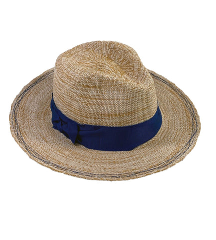 Rise n' Shine Straw Hat in Oat + Cadet
