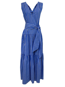 Day to Night Caftan in Blue Stripe