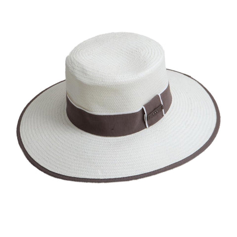 Straw Hat with Trim + Band