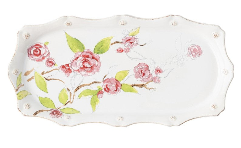 Berry & Thread Floral Sketch Camellia Hostess Tray