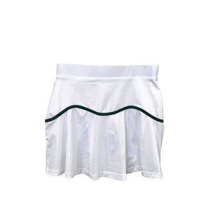 Performance Mesh Team Skort in White + Green
