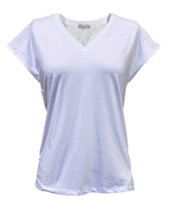 Performance V-Neck Tee in White