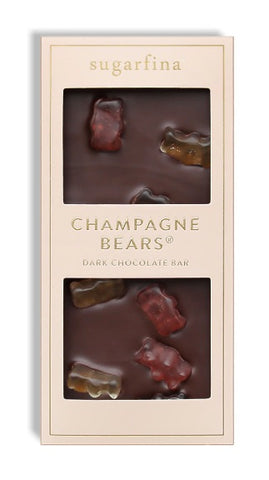 Sparkling Champagne Bears Dark Chocolate Bar