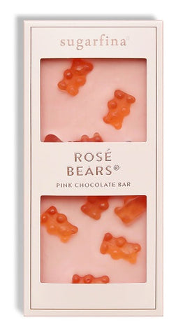 Sparkling Rosé Bears Pink Chocolate Bar
