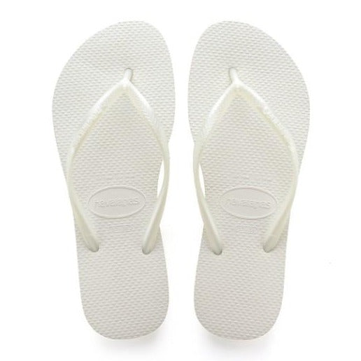 Slim Flip Flops in White