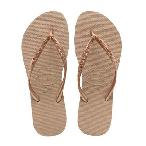 Slim Flip Flops in Rose Gold