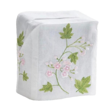 Spring Flower Tissue Box Cover in Pink