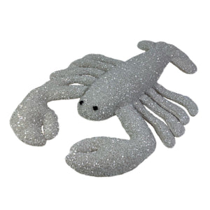 Luxus Beaded Velvet Lobster in Ivory