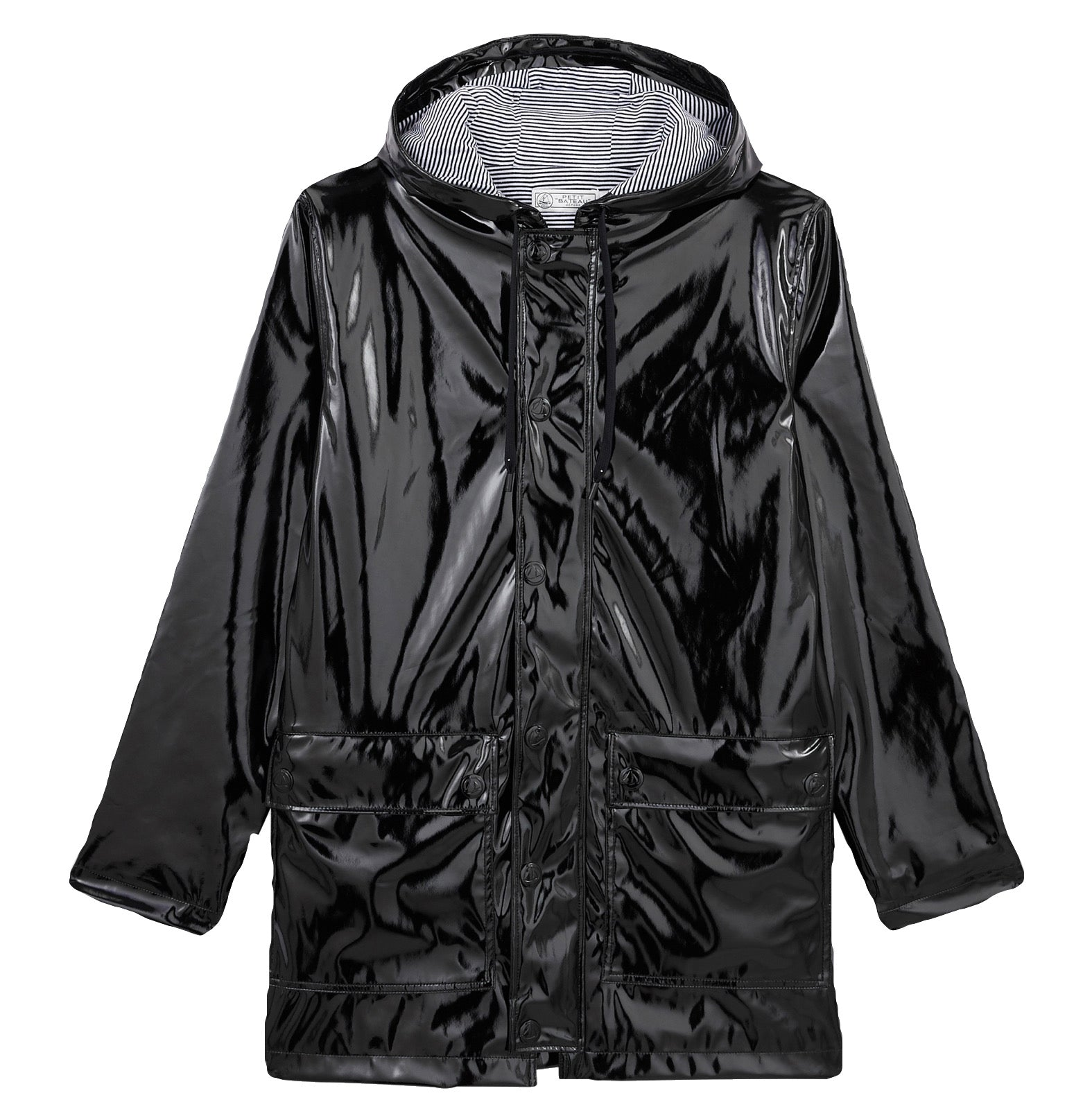 Hooded Rain Slicker in Black