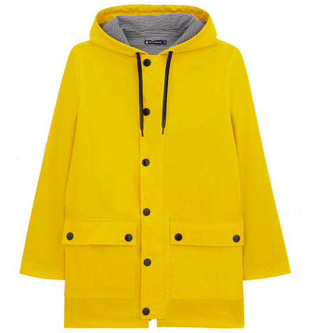 Hooded Rain Jacket in Yellow