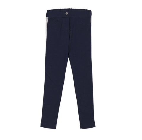 Lomena Pants with Side Stripe Trim in Navy