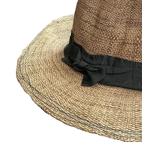 Rise n' Shine Straw Hat in Tobacco + Seaweed