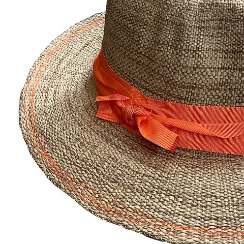 Rise n' Shine Straw Hat in Bacco + Orange