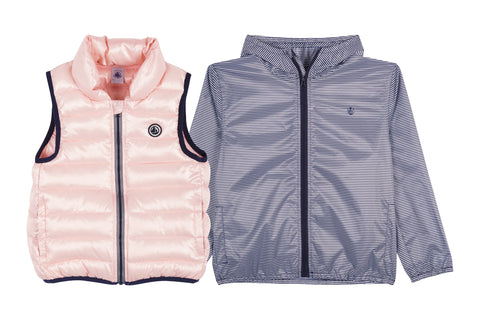 Lomerie 2 in 1 Striped Jacket and Vest in Pink