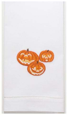 Embroidered Jack-O-Lantern Everyday Towel