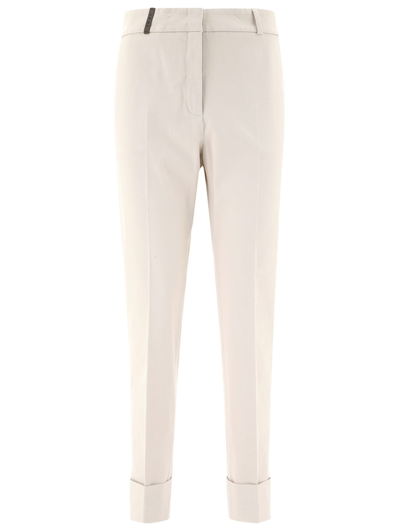 Stretch Cotton Cuffed Pant in Sand