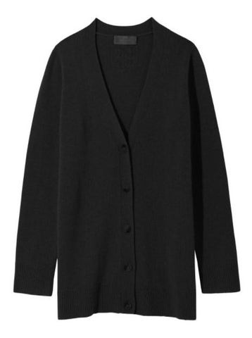 Malory Cashmere Cardigan in Black