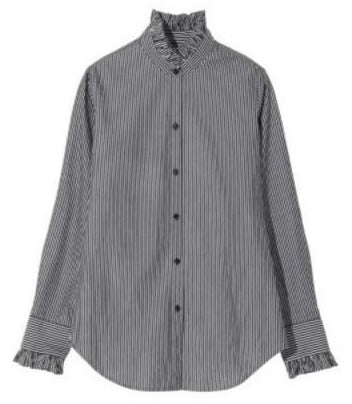 Lydia Button Up Shirt in Bold Stripe