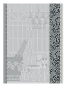 Ambiance Bulle Tea Towel in Silver