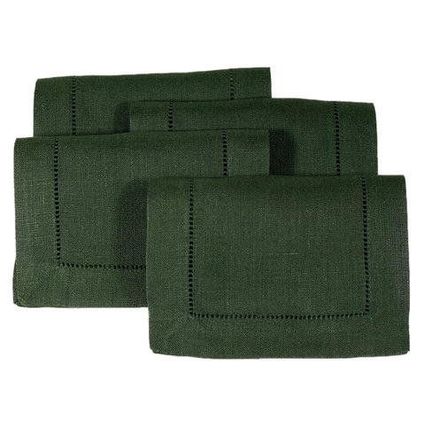 Festival Cocktail Napkin Set in Forest