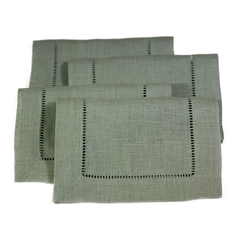 Festival Cocktail Napkin Set in Moss