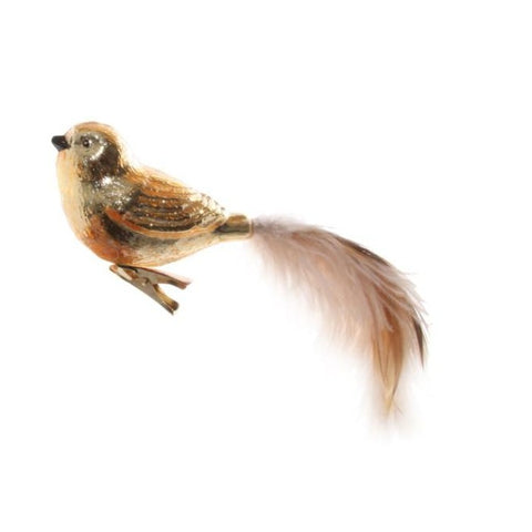 Feather Tail Bird Clip in Gold