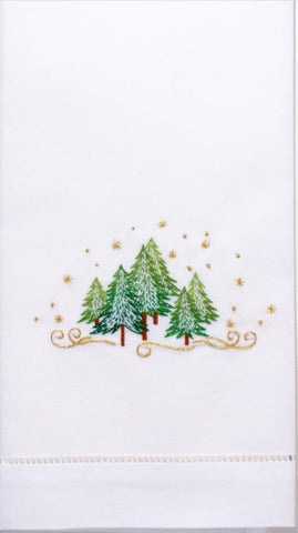 Embroidered Pine Trees Everyday Towel