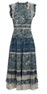 Kiri Sleeveless Midi Dress in Indigo