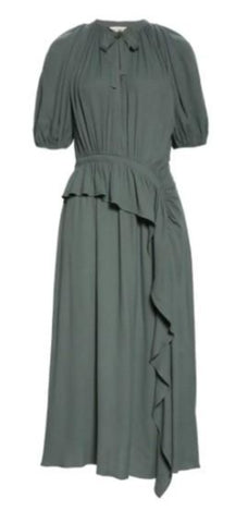 Leah V-Neck Maxi Dress in Peat