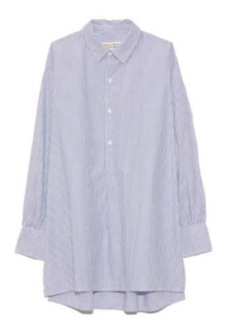Ambrose Long Sleeve Tunic in Light Blue Stripe
