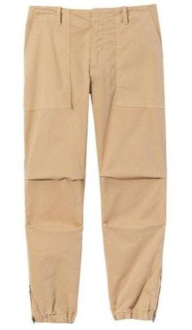 Cropped French Military Pant in Desert Sand