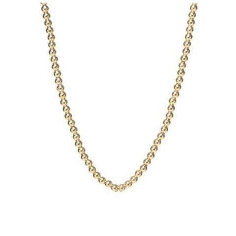 Petite Yellow Gold Bead Necklace