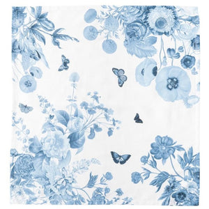 Field of Flowers Dinner Napkin in Chambray