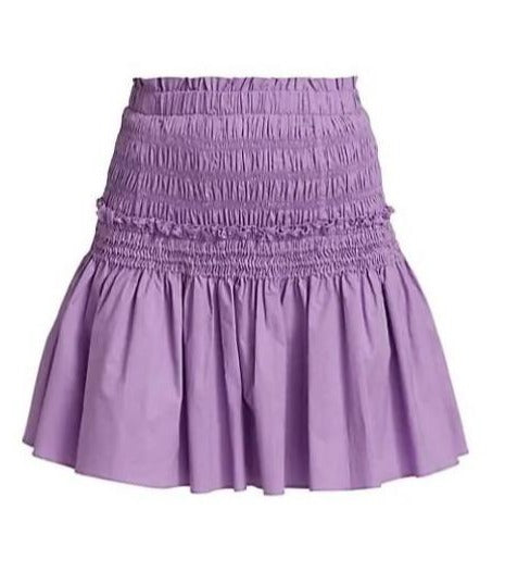 Varsha Cotton Tiered Skirt in Lilac