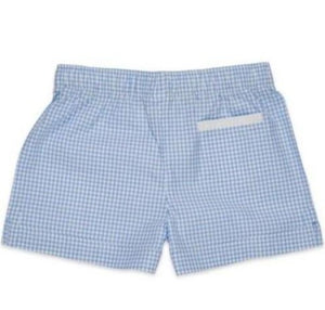 The Boxer Short in Baby Blue Check