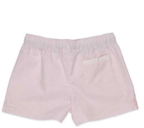 The Boxer Short in Pink Powder Stripe