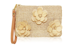 Flore Wristlet Clutch in Natural