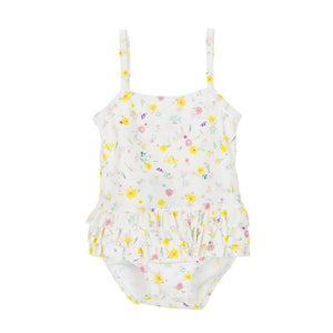 Felice Floral Swimsuit in White Multi